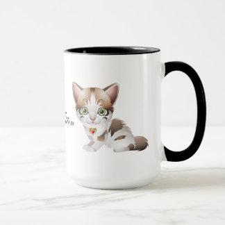 Tasse de café mignonne de chaton