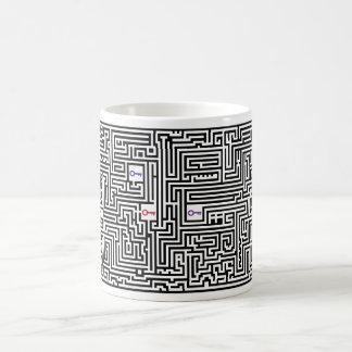 Tasse de café Morphing de labyrinthe