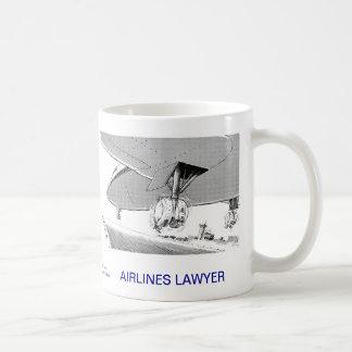 Tasse de café morte d'avocat de lignes aériennes d