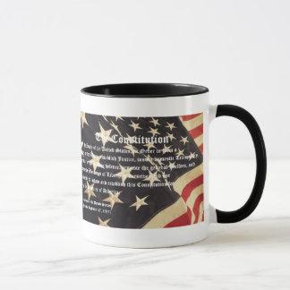"""Tasse de café patriotique de """"constitution"""""""