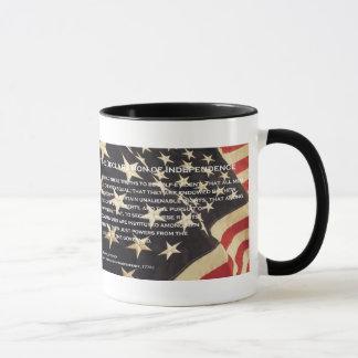 """Tasse de café patriotique de """"déclaration"""