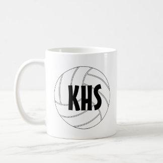 Tasse de café personnalisable de volleyball