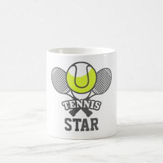 Tasse de café personnalisée de star du tennis