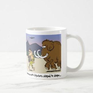tasse de café préhistorique de hippie