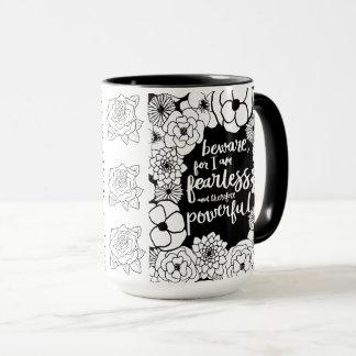 Tasse de café puissante courageuse de n