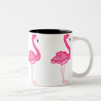 Tasse de café rose de flamant