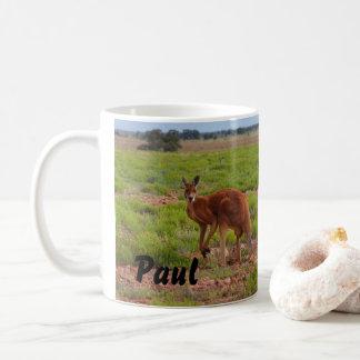 Tasse de café rouge australienne de kangourou