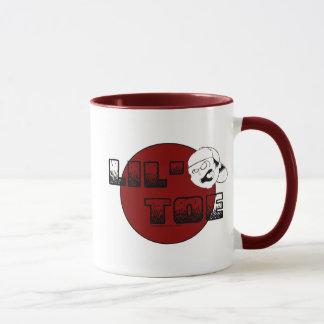 Tasse de café ROUGE de cercle d'orteil de Lil