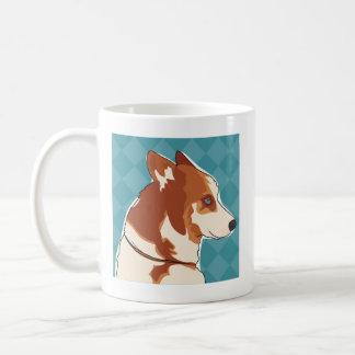 Tasse de café rouge de chien de traîneau sibérien