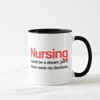Tasse de café soignante de citations