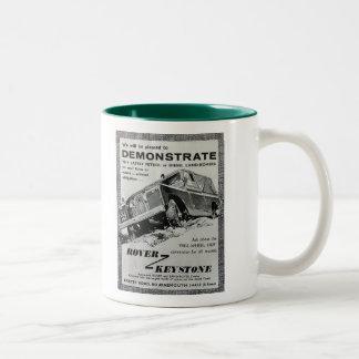 Tasse de café trapézoïdale d'annonce de Rover