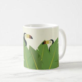 Tasse de café tropicale d'oiseau de toucan