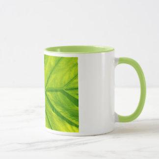 Tasse de café tropicale verte d'impression de