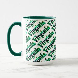 Tasse de café verte de style de la Virginie