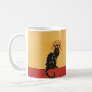 Tasse de café vintage d'art de Tournée du Chat