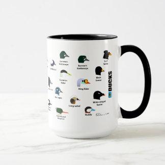 Tasse de canard de BirdFace avec des étiquettes