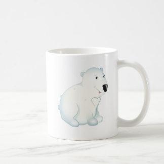 """Tasse de caractère d'ours blanc de """"petit de bébé"""