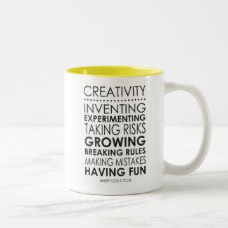 Tasse de citation de créativité