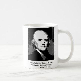 Tasse de citation de Thomas Jefferson