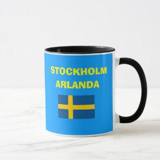 Tasse de code d'aéroport d'Arlanda Stockholm