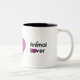 Tasse de coeur d'amoureux des animaux