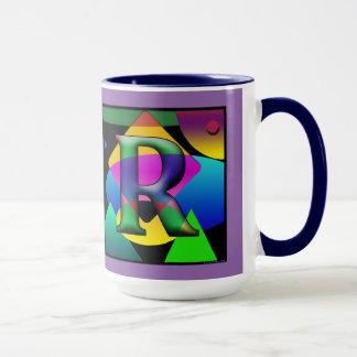 Tasse de Cofee de monogramme de J et de R