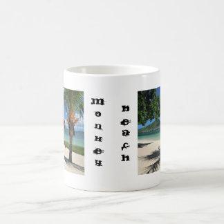 Tasse de Coffe de plage de singe