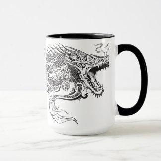 Tasse de dragon de henné de tatouage