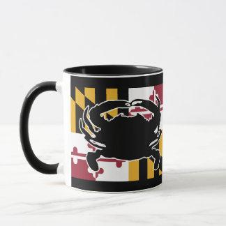 Tasse de drapeau/crabe du Maryland