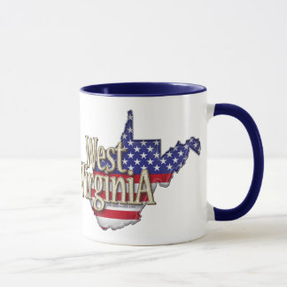 Tasse de drapeau de la Virginie Occidentale