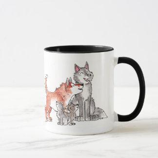 Tasse de famille de loup