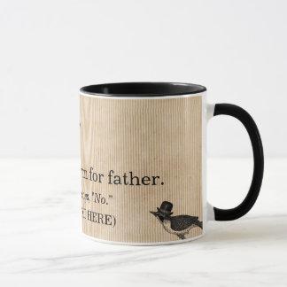 Tasse de fête des pères, la définition du papa