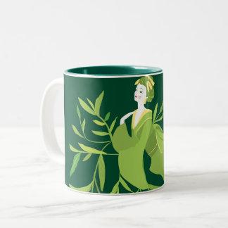 Tasse de geisha de thé vert