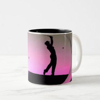 Tasse de HAMbyWG - de Personalizable - golfeur au