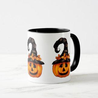 Tasse de Jack-o'-lantern de Halloween/automne