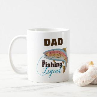 Tasse de légende de pêche, papa de personnaliser,