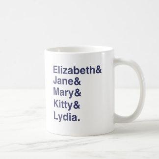 Tasse de liste de noms de typographie de Jane