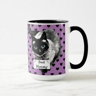 Tasse de Madame café de chat siamois de la