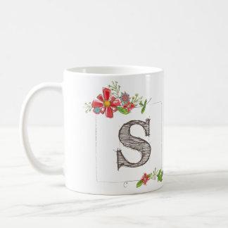 """Tasse de monogramme de """"S"""""""
