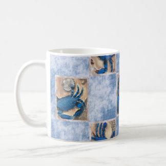 Tasse de motif de crabe bleu