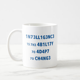 Tasse de motivation de citation d'intelligence