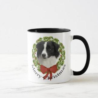 Tasse de Noël de border collie
