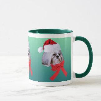 Tasse de Noël de Shih Tzu