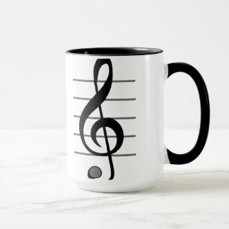 Tasse de note musicale de clef triple