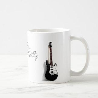 Tasse de notes de guitare et de musique