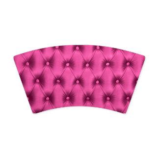 Tasse de papier avec le motif de capitone de rose gobelets en papier