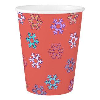 Tasse de papier de flocons de neige géniaux gobelets en papier