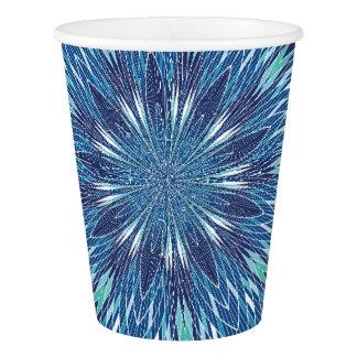 Tasse de papier de motif bleu gobelets en papier