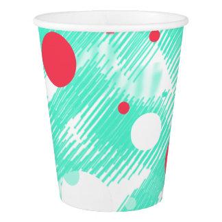 Tasse de papier d'impression d'abrégé sur pêche de gobelets en papier