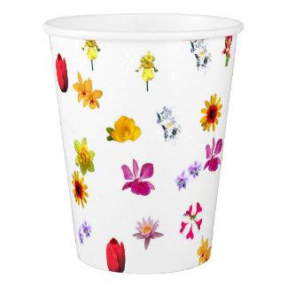 Tasse de papier faite sur commande de fleurs, 9 gobelets en papier
